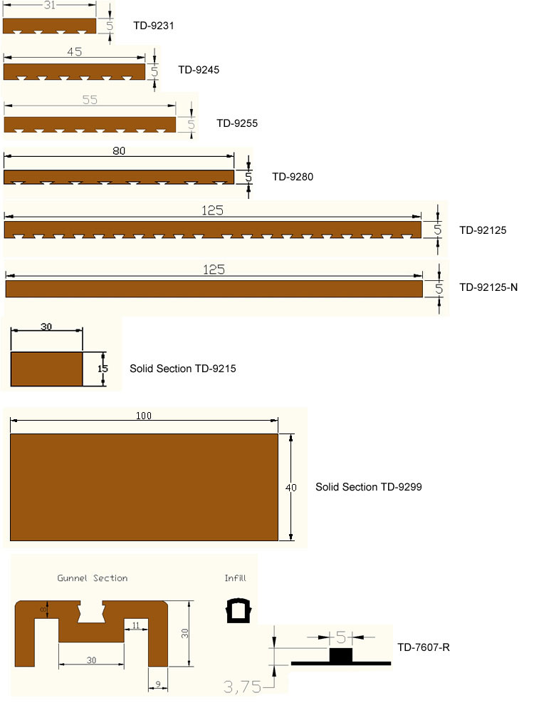 Tek-Dek Technical Drawings
